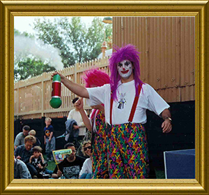 Razamatazz Clowns at Didcot Railway Centre in Didcot Oxon