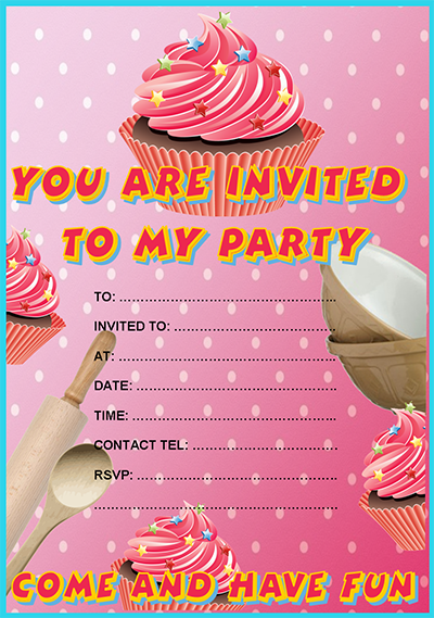 Free Cupcake Party Invitation