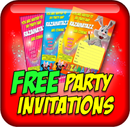 Free childrens party invitations