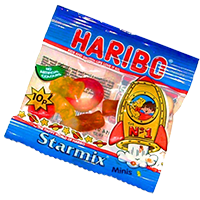 Bag of Haribo sweets picture