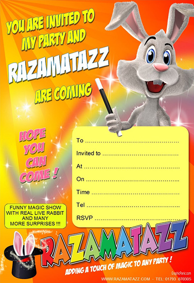 Razamatazz Orange Invitation