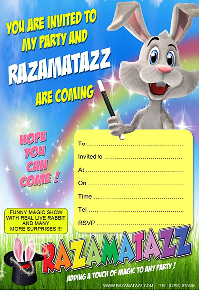 Razamatazz Invitation Blue & Green